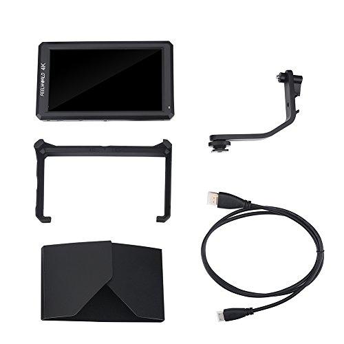 Full HD 1920 x 1080 Kamera-Monitor 4K Kamera Feldüberwachung mit 5,7 Zoll LCD-Display, geeignet für DSLR-Kamera