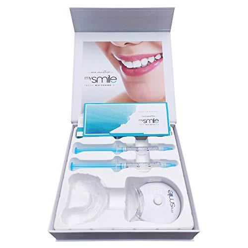 MySmile Zahnaufhellungs Set - Das Original | Für Weißere Zähne | Professionelles Teeth Whitening Kit | Bleaching Set Gegen Gelbe & Graue Zähne | Entfernt Verfärbungen und Ablagerungen