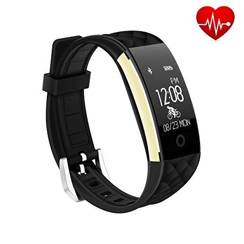 Fitness Armband Uhr IP67 Wasserdicht Fitness Tracker Aktivitätstracker Pulsuhren Bluetooth Smart Armband Uhr Schrittzähler Activity Uhr Mit Herzfrequenz Monitor Schlafmonitor Kalorienzähler Vibrationsalarm für Android iOS Telefonkompatibel