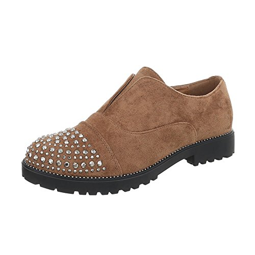 Chaussures Pour Femmes Mocassins À Talon Block Ital-design Braun 22-2
