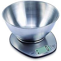 EXZACT EX4350 Premium Bilancia Elettronica da Cucina ad Alta Precisione con Ampio Display in Acciaio Inossidabile con Ciotola per Mescolare - 5kg / 11lb