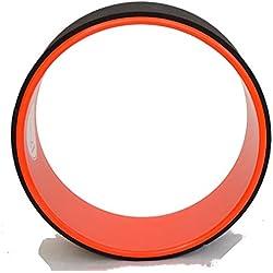 Yoga Wheel©–Happy - Rueda de yoga + Guía de uso en PDF(podría no estar disponible en español) –El accesorio indispensable para yoga, naranja, talla única