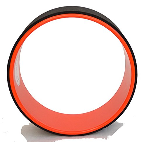 Yoga Wheel© - Happy - Orange + Guide d'utilisation en PDF - L'accessoire indispensable au Yoga (Orange, Unique)