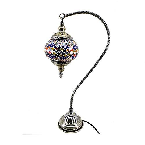 Modernes Design-ottomane (Mehrfarbig Handarbeit Türkisch Marokkanisch Ottomane Mittelmeer- Stil Mosaik Tischlampe Schwanenhals Design Globus Lampenschirm)