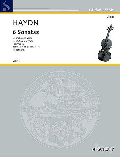 6 Sonatas: Heft 2. Hob.VI: 1-6. Violine und Viola. Spielpartitur. (Edition Schott)