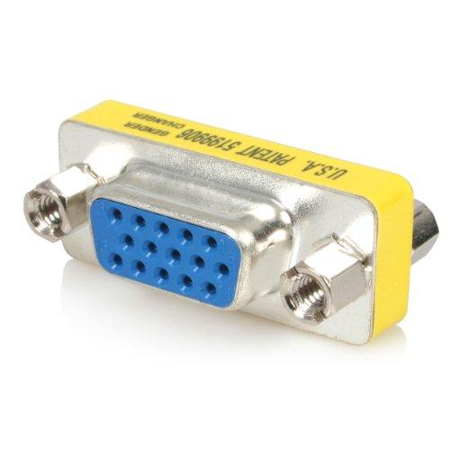 StarTech.com GC15HSF Adaptador Cambiador de Género VGA - Acoplador Unión de Conectores HD15 Hembra a Hembra