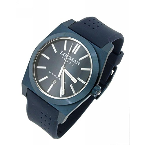 Watch Locman Stealth T Quartz 0201blblnnksib (Rechargeable) quandrante Steel Blue Rubber Strap
