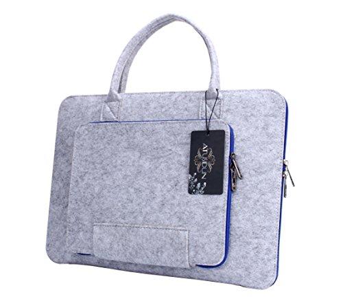 Preisvergleich Produktbild 14 Zoll Laptop Schutzhülle Filz Tasche Hülle Sleeve Case Laptoptasche Notebooktasche Blau