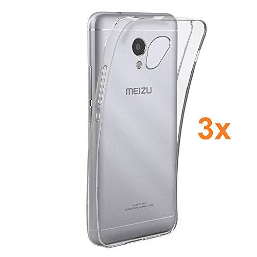 Pack 3X Cover in Gel TPU Trasparente per MEIZU M5S / MEILAN M5S, Ultra Sottile 0,33 mm, Morbido Flessibile, Custodia Silicone, Elettronica Re®