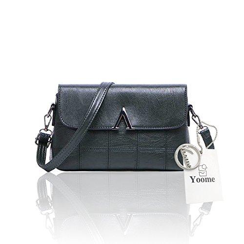Sacchetti di spalla trasparenti dell'annata di grande capacità della borsa del messaggero elegante delle donne di Yoome - viola verde