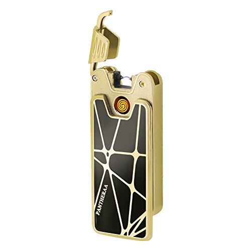 USB sigaretta Llighters 2in 1ricaricabile Plasma elettrico arco senza fiamma antivento accendino, Black