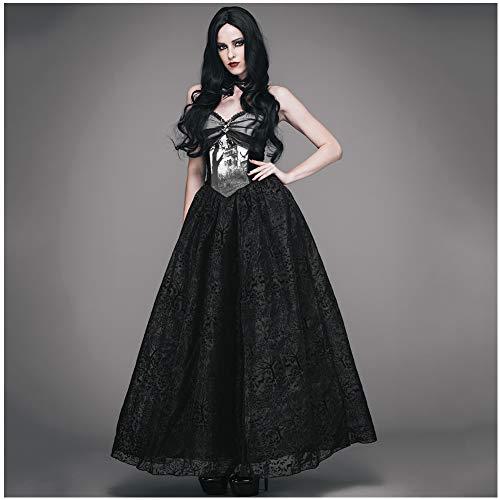 CDCDL Damen Gothic Vintage Kleid -Sling Langer Rock, Prinzessinkleid, mittelhoch, geeignet für Feste, Bankette, Hochzeiten, Kirchen, Cocktailpartys, Tänze, - Tanz Kostüm Kirche