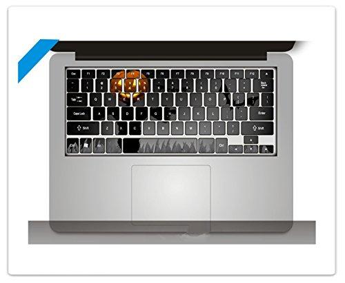 or Vinyl Aufkleber Tastatur-Sticker Abziehbild Abziehbilder Aufkleber Power-up Kunst Schwarz für Apple MacBook Pro 13