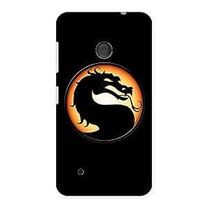 Premium Mortal Black Back Case Cover for Lumia 530