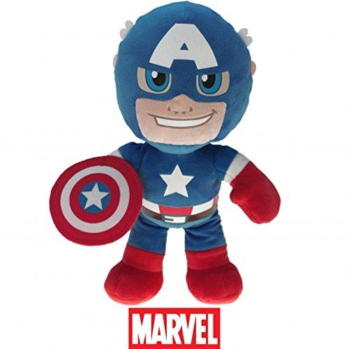 Preisvergleich Produktbild Marvel Super Helden, Super Heroes, The Avengers Plüsch Figuren 22cm zum Kinofilm - Auswahl! Spiderman, Ironman, Thor, Hulk oder Capt. Amerika (Thor) (Capt. Amerika)