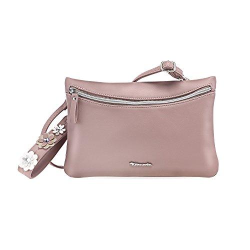 TAMARIS DORIANA Damen Handtasche, Clutch Bag, Umhängetasche, 28x12x2 cm (B x H x T), 4 Farben: rose comb. oder silber comb. rose comb