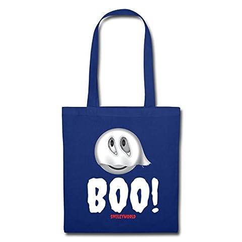 Smiley World Halloween Fantôme Mignon Boo Tote Bag de Spreadshirt®, bleu royal