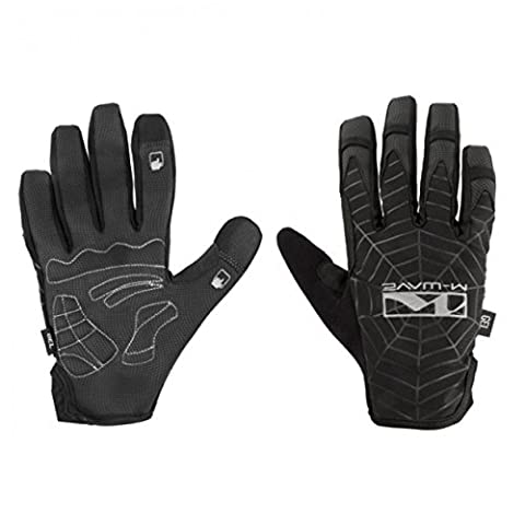 M-Wave Spiderweb Gel Bicycle Gloves - Black,