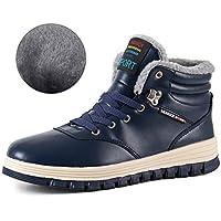 ebd7f831e4aba1 IceUnicorn Herren Winterschuhe Warme Schneestiefel Gefüttert Outdoor  Rutschfeste Stiefel Leder Knöchel Stiefel Wasserdicht Boots