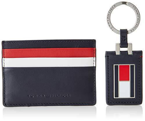 Tommy Hilfiger Herren Corporate Cc Holder Keyfob Box Geldbörse, Blau (Tommy Navy/Core Stp), 1x12x15.5 cm -