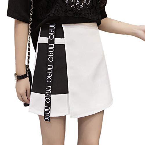 DAHDXD Estilo Moda Coreana Mujeres Remiendo Carta