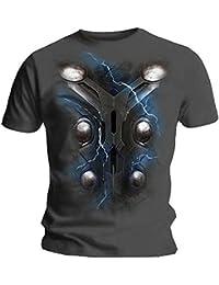 Marvel Official T Shirt The Avengers Thor Chest Print Ragnarok All Sizes