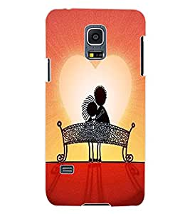 ColourCraft Love Couple Design Back Case Cover for SAMSUNG GALAXY S5 MINI