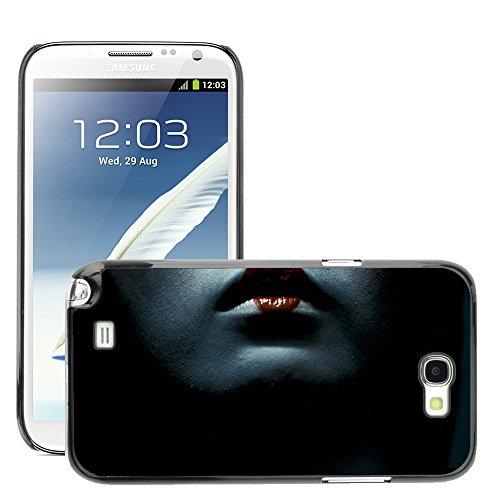 Premium Slim Polycarbonate Aluminium Cassa del telefono Custodia Case Bandiera Cover Armor // M00047999 lips geisha aero black // Samsung Galaxy Note 2 N7100 - Aero Lip