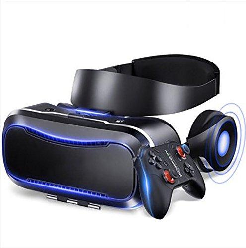 YDZSBYJ VR-Brille, 4D Kopf Montiert 3D HD Virtual Reality Helm, RV Stereo Spiel/Film, Oppo/Huawei/Vivo/Apfel, Atmungsaktiv, Schwarz (Farbe : Black) - Rv-brille