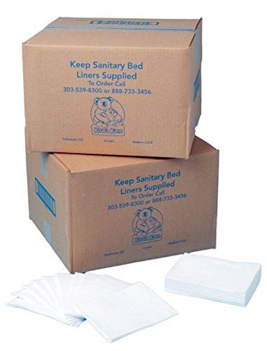 Koala Kare KB15099 Baby Changing Station Sanitary Bed Liners, White (Case of 500)  Bobrick - Geneva