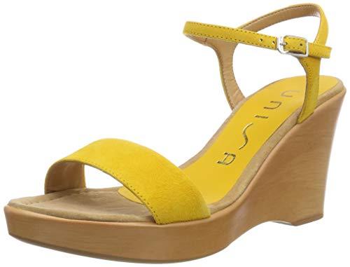 Unisa Rita_19_KS, Sandalia con Pulsera para Mujer, Amarillo Yellow, 39 EU