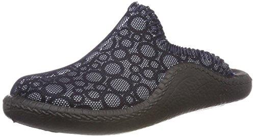 Romika Damen Mokasso 134 Pantoffeln, Blau (Ocean-Kombi), 39 EU