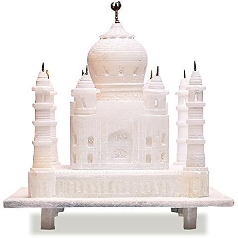 Artist Haat Intagliato a mano indiano di ricordini Taj Mahal - simbolo di amore (Biancaneve, 15,24 * 15,24 * 16,5 cm)