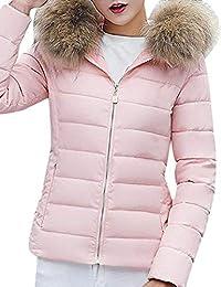 6a0d412885a6 Pagacat Mode Doudoune Féminine Décontractée Solide Manteau d hiver Plus  Epais Mince Manteau Pardessus Blousons