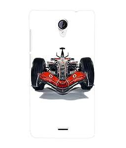 Fuson 3D Printed Mercedes Benz Racing car Designer Back Case Cover for Micromax Unite 2 A106 - D834