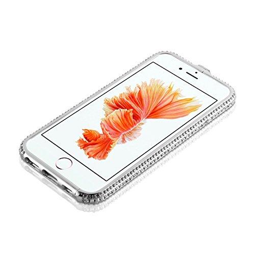 """iPhone 6 Hülle, JAMMYLIZARD [ CRYSTALINE ] Bumper Case für iPhone 6 / 6s 4.7"""" mit Strass, SILBER Silber"""