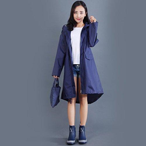 ALXC- Adult Mode Trenchcoat Regenmantel Poncho, Regenmantel Girl Fashion Poncho Adult Damen Windbreaker Regenmantel Reisen eine trockene Ultra leichte Regenmantel (Farbe : E, größe : L)