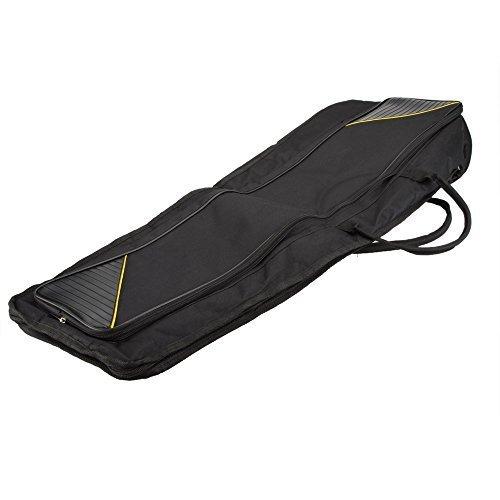 Andoer® 600D wasserabweisend Posaune Gigbag Oxford Tuch Rucksack Verstellbare Schulterriemen Tasche 5mm Baumwolle gepolstert für Alto/Tenor Posaune (Verstellbare, Gepolsterte Schulterriemen)