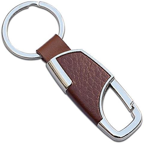Anillo de metal llavero Regalo creativo coche Simple coche keychain-