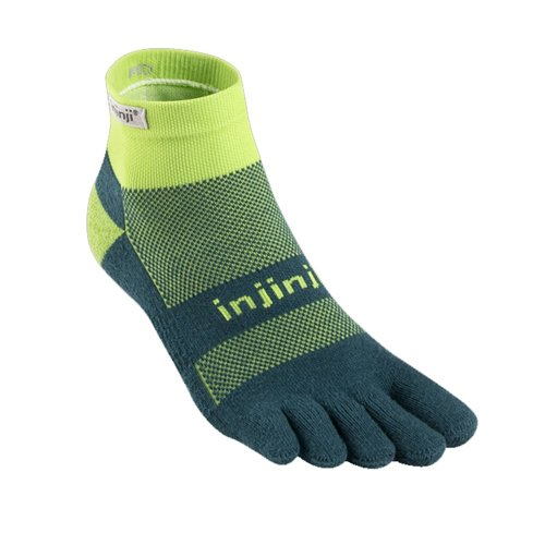 Injinji Socks Run Midweight Mini Crew Chive
