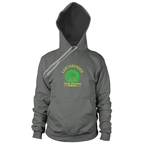 Earthbender Kingdom - Herren Hooded Sweater, Größe: L, Farbe: grau (The Last Airbender Avatar Kostüm)