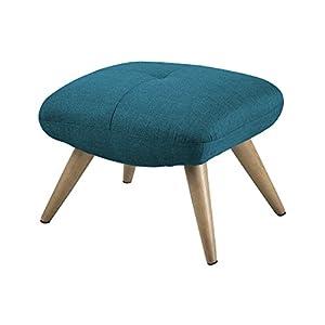 AC Design Furniture Stuhl Erika, B: 57 x T:48 x H: 43 cm, Stoff, Blau