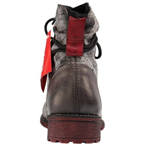 Stivali da bambini Rieker K3457-45 fumo grigio fumo/asphalt/wine/sc