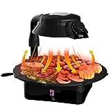 Grill Elettrico, Elettrico Bbq Grill Grill Da Tavolo 3D Infrarossi Grill No Fumo Fat-Free La Cottura Alla Griglia Rotante Grill Pan Easy Cleaning