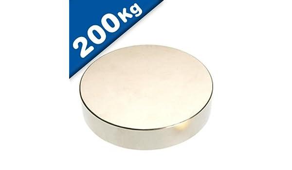 NdFeB hält 200 kg Scheibenmagnet // Rundmagnet Ø 70x10mm – Neodym N45 Nickel