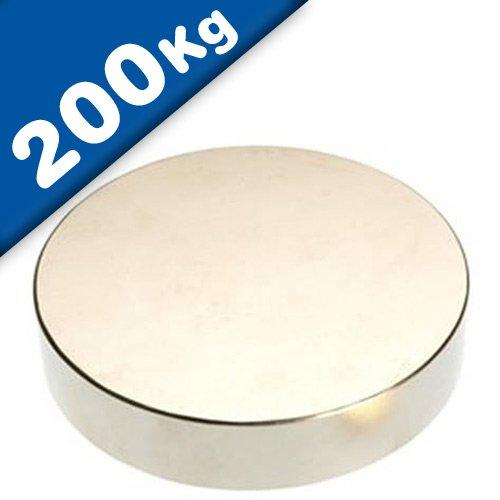 Scheibenmagnet Rundmagnet Neodym (NdFeB) - Größe & Stückzahl wählbar - Haftkraft bis 750kg -...