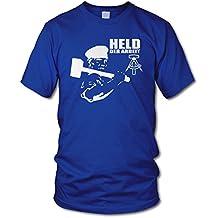 S bis XXL Gr Held der Arbeit Herren T-Shirt