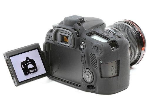 easyCover Silicone Camera Case for Canon 70D - Black