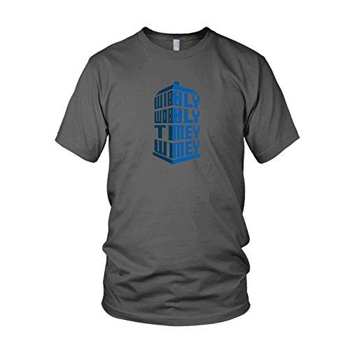 Wibbly Wobbly Timey Wimey - Herren T-Shirt, Größe: L, Farbe: grau
