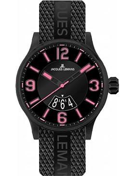 Jacques Lemans Unisex-Armbanduhr Sport Analog Quarz Kautschuk 1-1729F